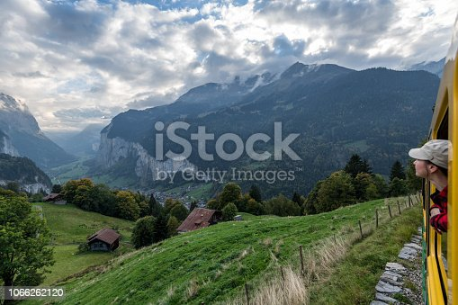 Mountains in distance, Bernese Oberland
