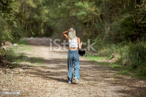Woman lost in the forest