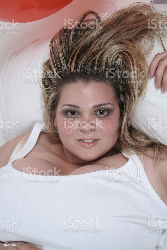 Woman lying down royalty-free stock photo