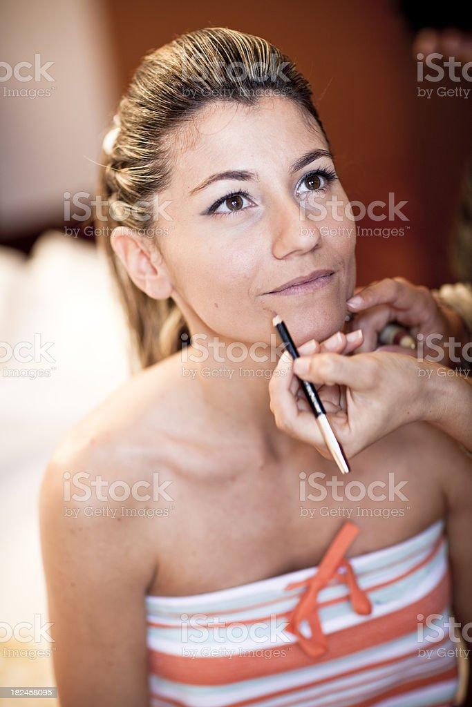 Woman Make up royalty-free stock photo