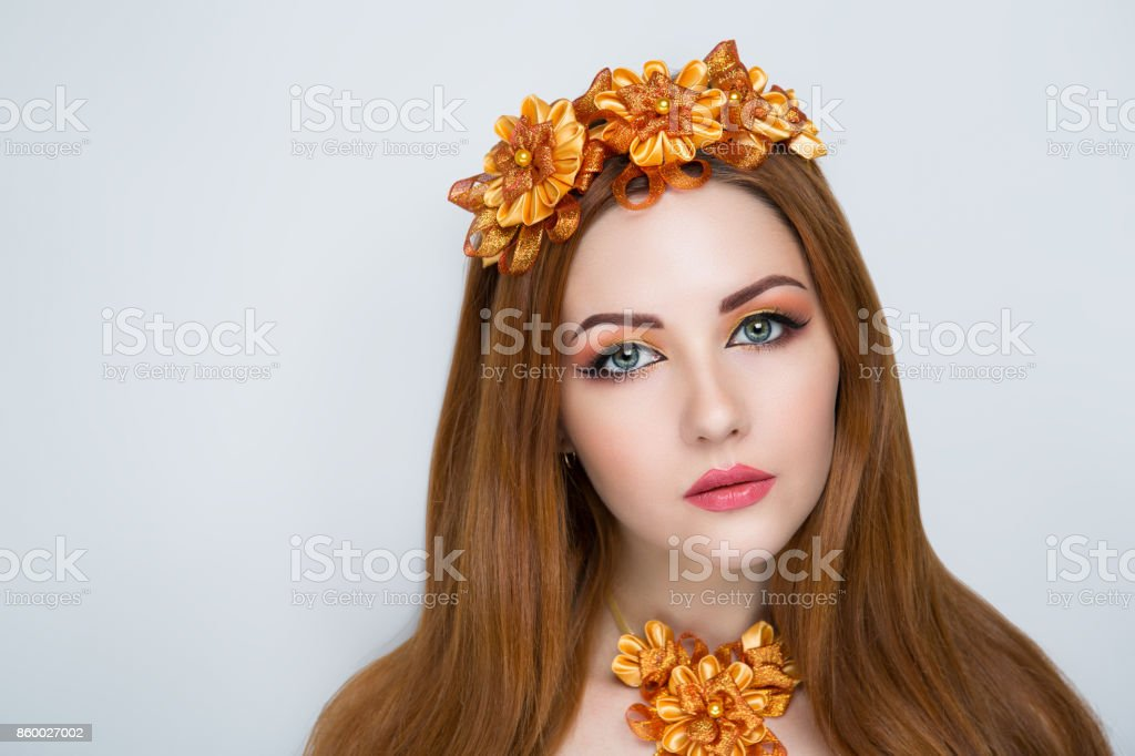 woman make up stock photo