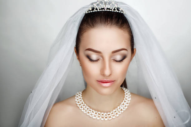 woman make up - veil stock pictures, royalty-free photos & images