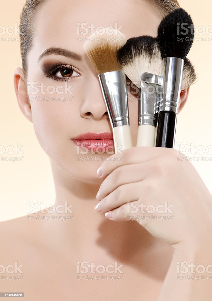 woman makeup concept royalty-free stock photo