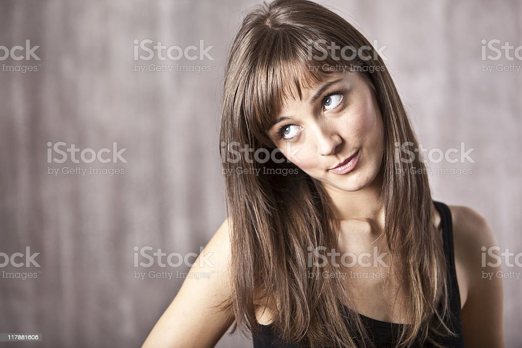 Woman making a face royalty-free stock photo