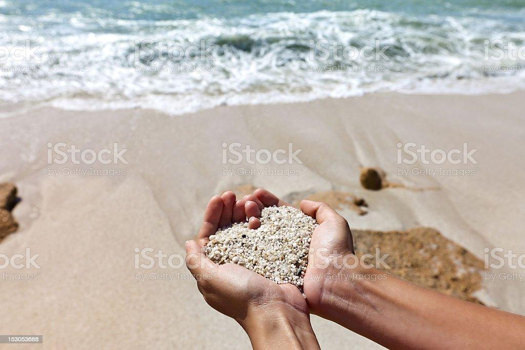 Herz Formen weibliche Hände – Foto