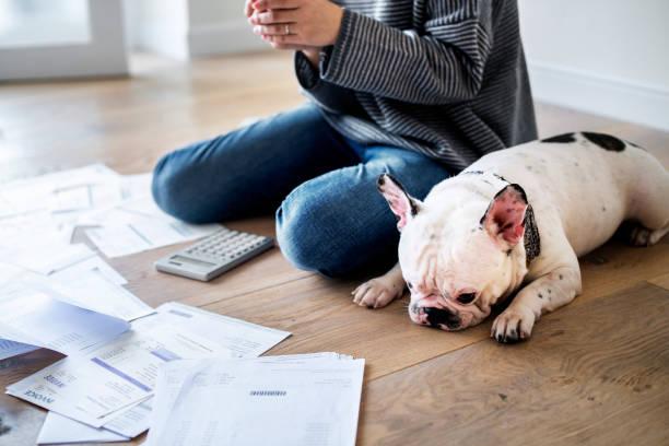 femme, gestion de la dette - prêts immobiliers et crédits photos et images de collection
