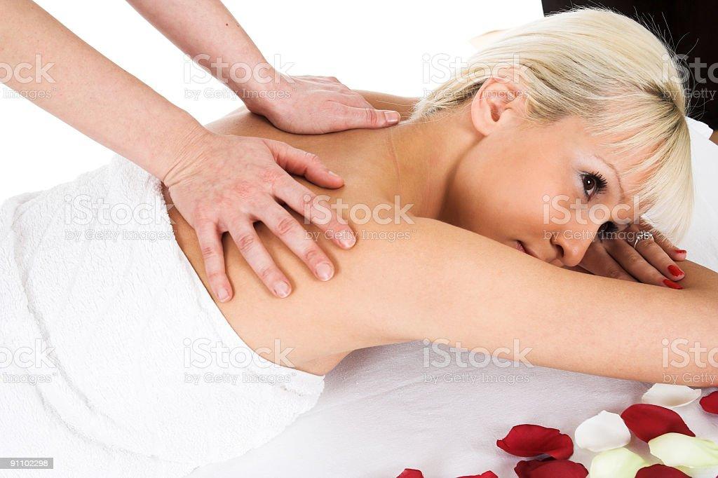 Woman massage royalty-free stock photo