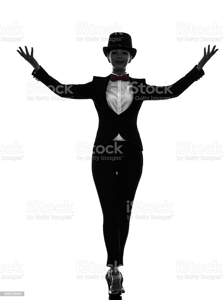 woman master of ceremonies presenter silhouette stock photo