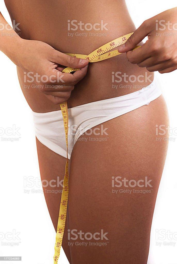 Frau, messen Ihren Körper. – Foto