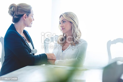 479964946istockphoto Woman meeting with a female doctor. 1160370459