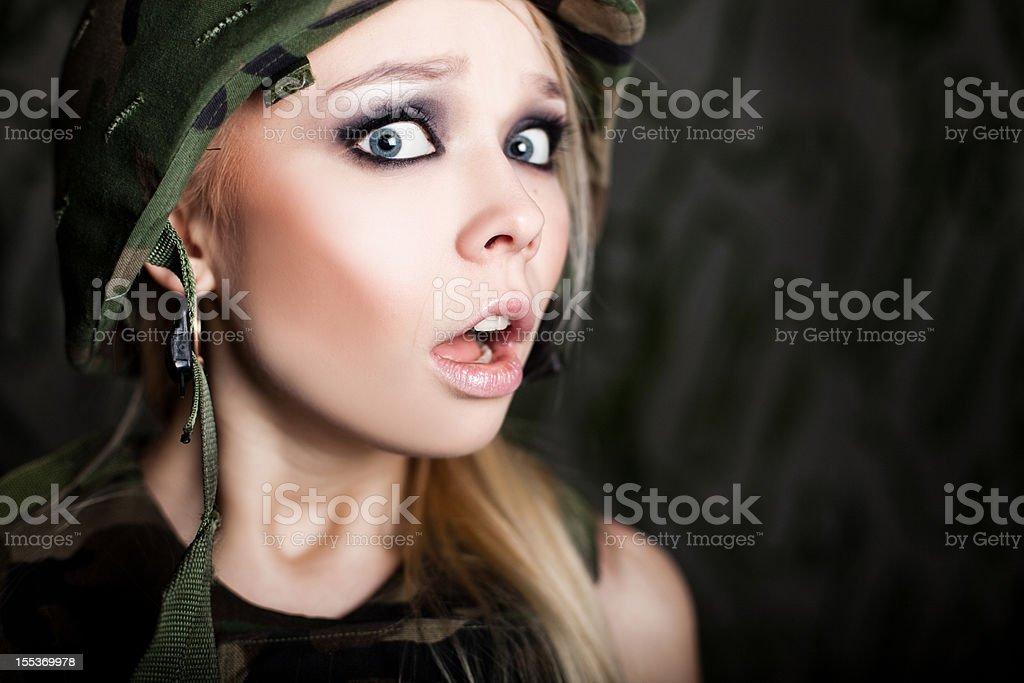 Woman military royalty-free stock photo