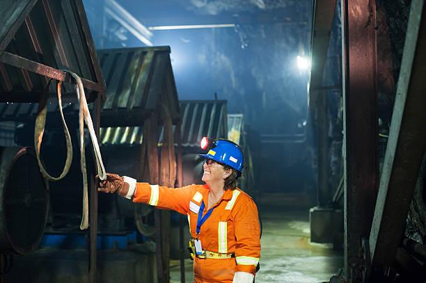 Woman Mine Worker stock photo