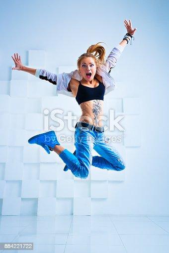 istock Woman modern dancer 884221722