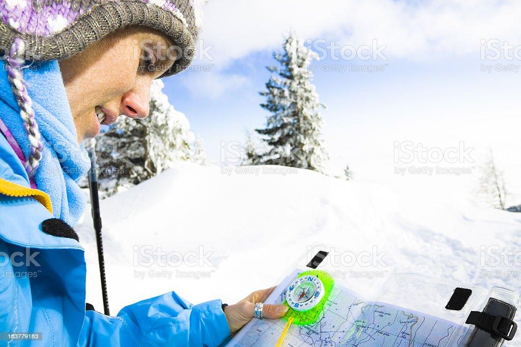 woman mountain guide royalty-free stock photo