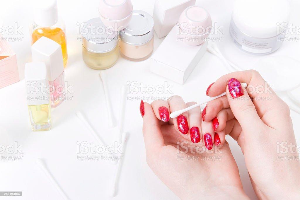 Woman nails make-up royalty-free stock photo