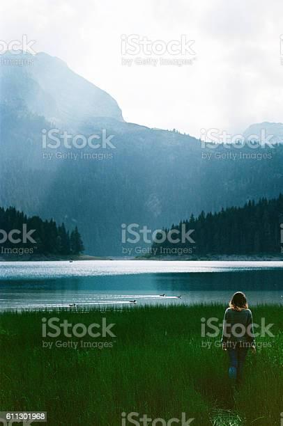 Photo of Woman near the Black lake