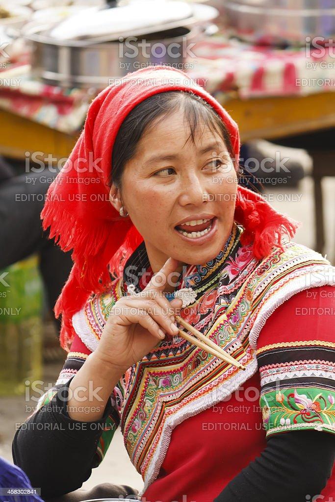 Woman of  ethnic Yi royalty-free stock photo