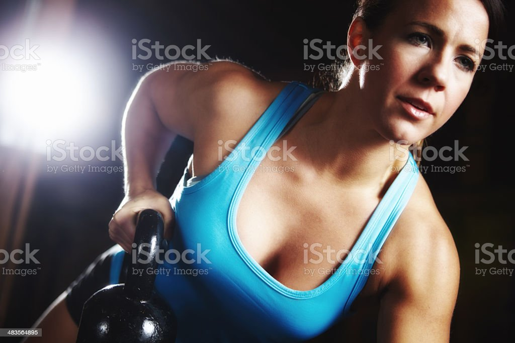 Woman of perseverance royalty-free stock photo