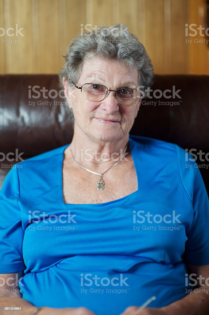 Woman of seventy-five looking at the camera royalty-free stock photo