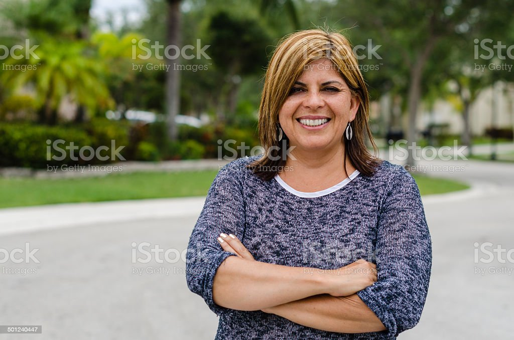 Woman of Suburbs stock photo