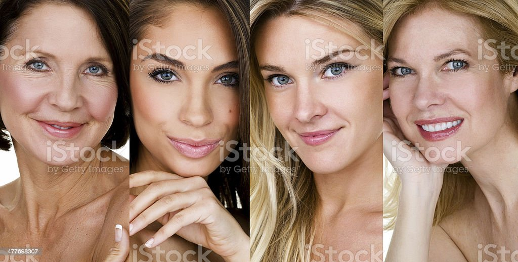 Woman of various ages stock photo