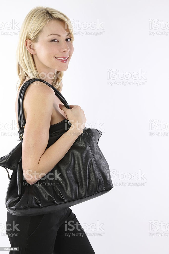 Woman off to go shopping royalty-free stock photo
