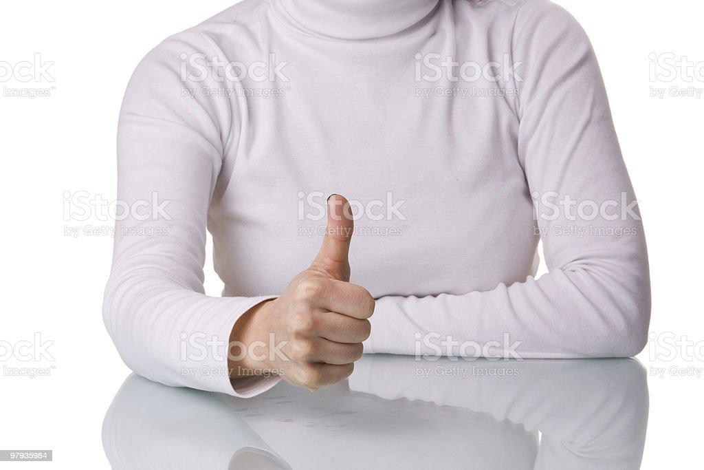 Woman OK royalty-free stock photo