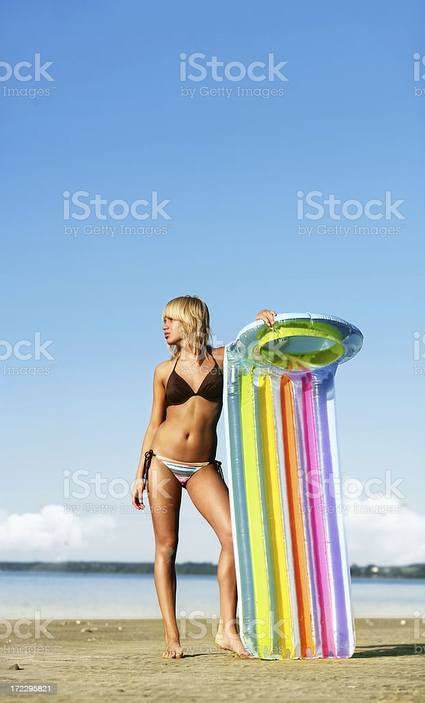 Woman on a Beach royalty-free stock photo