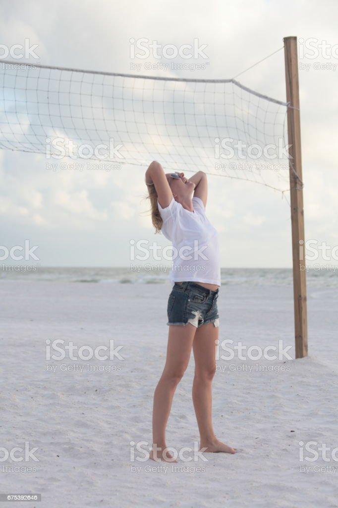 Woman on a beach. photo libre de droits