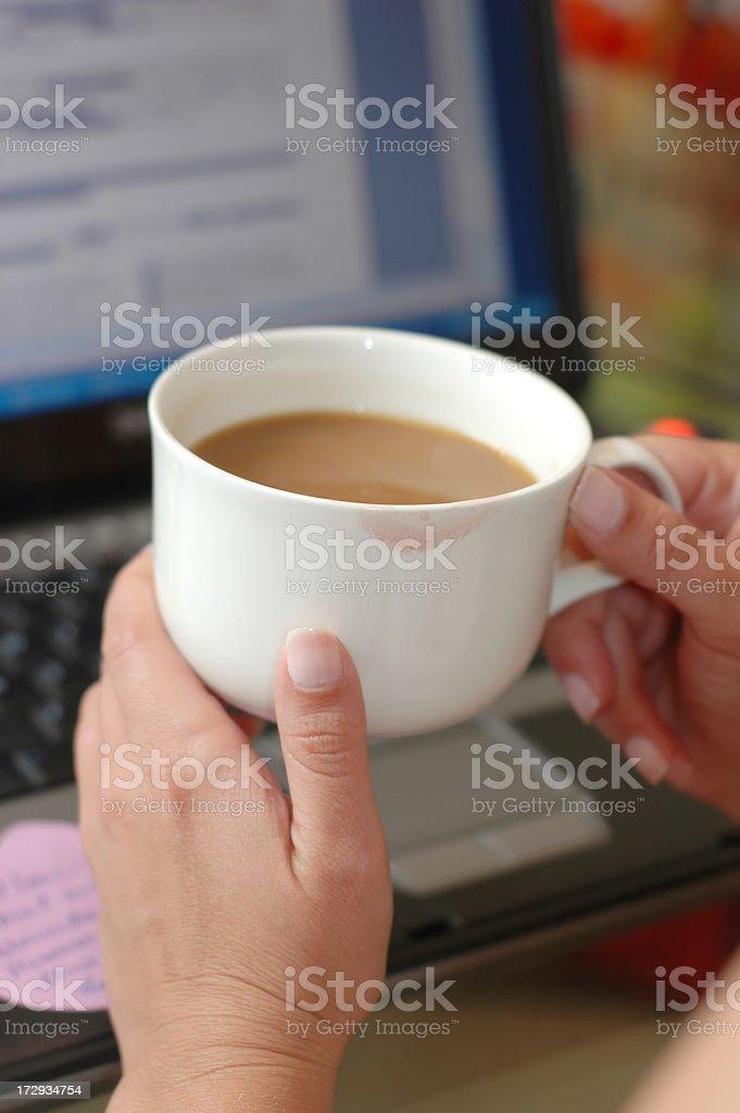 Woman on a Coffee Break royalty-free stock photo