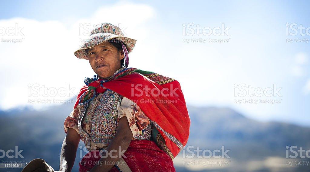 Woman on a Donkey royalty-free stock photo