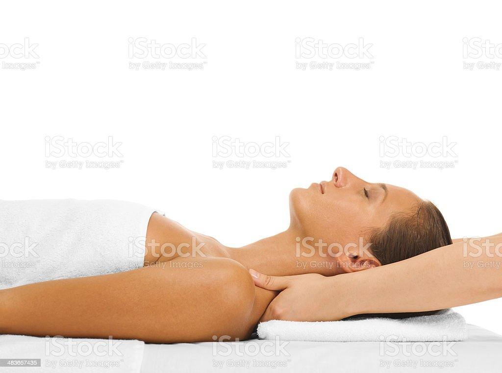 Woman on a massage stock photo
