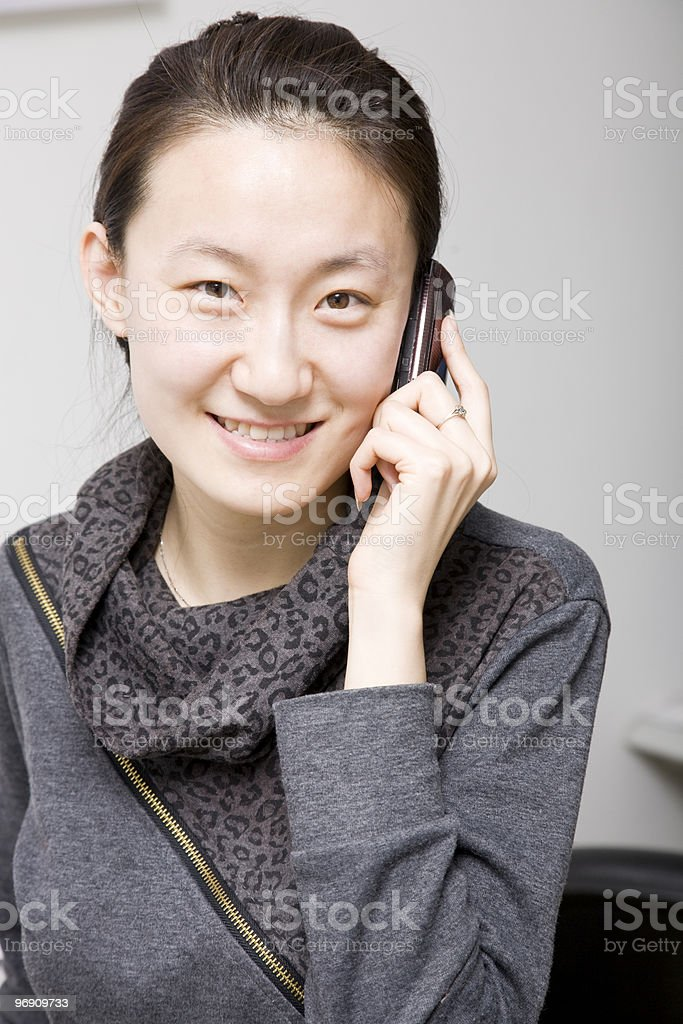 woman on a mobile phone royalty-free stock photo