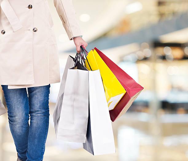 女性のショッピング ストックフォト
