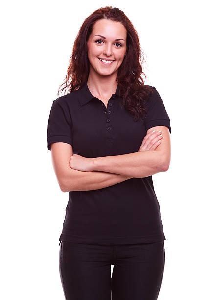 Woman on a white background stock photo