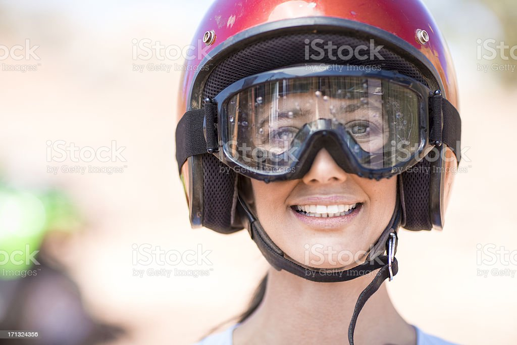 Woman on an adventure royalty-free stock photo