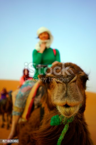 883177796istockphoto Woman on camel 821605060