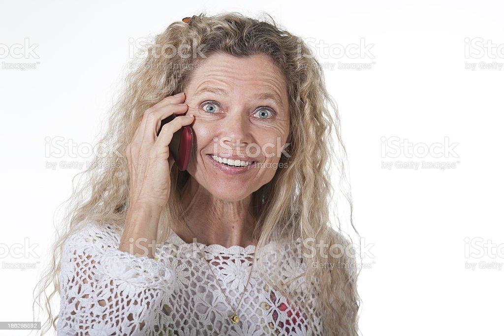 Mujer en el teléfono celular - foto de stock