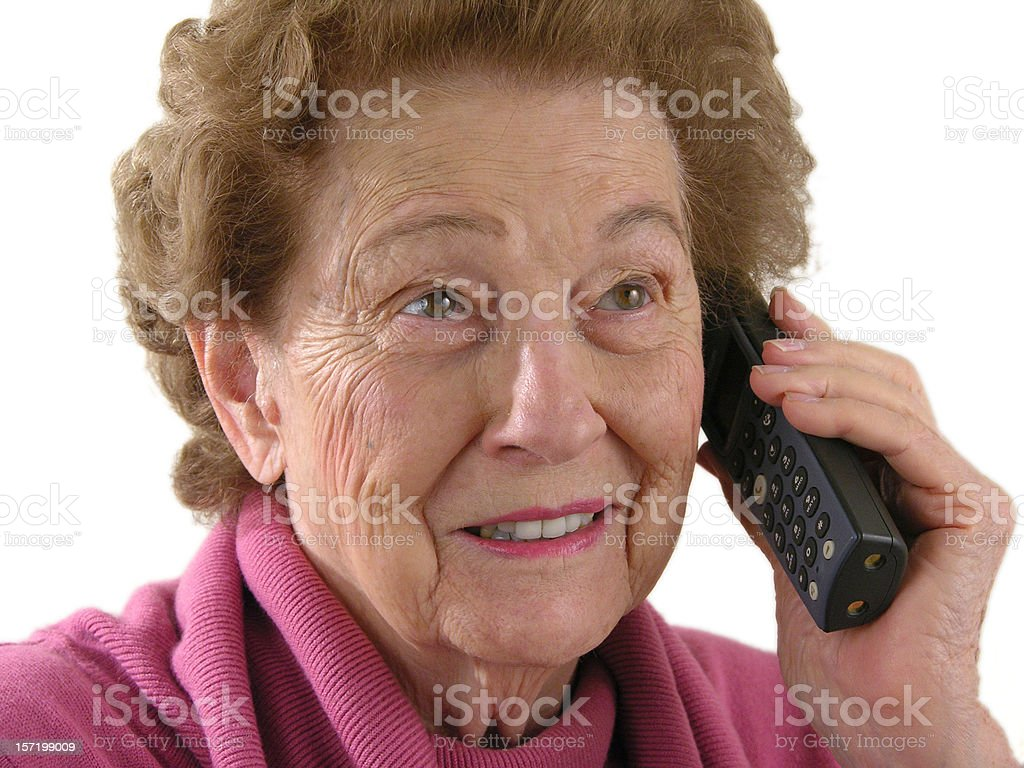 Woman on cordless phone royalty-free stock photo