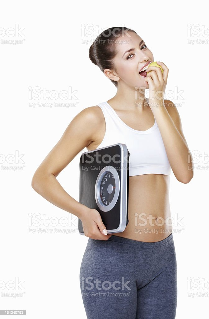 Woman on diet royalty-free stock photo