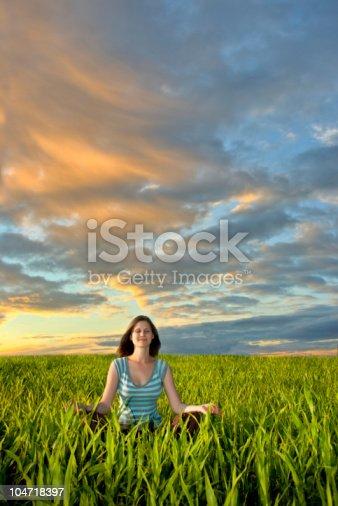 istock woman on field 104718397