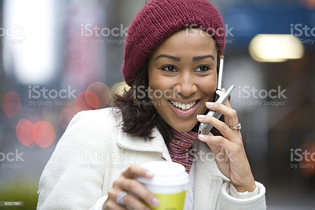 Woman On Her Cell Phone royalty-free stock photo