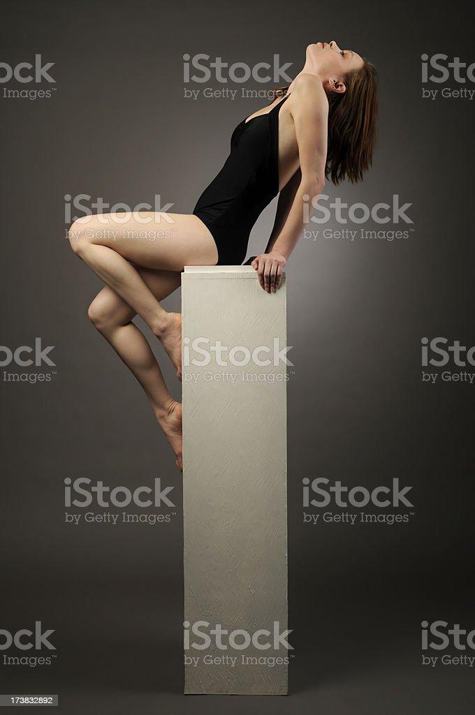 Woman on Pedestal royalty-free stock photo