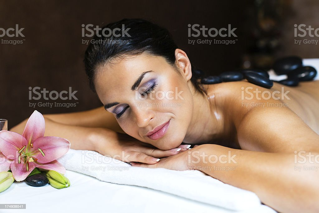 Woman on spa treatment royalty-free stock photo