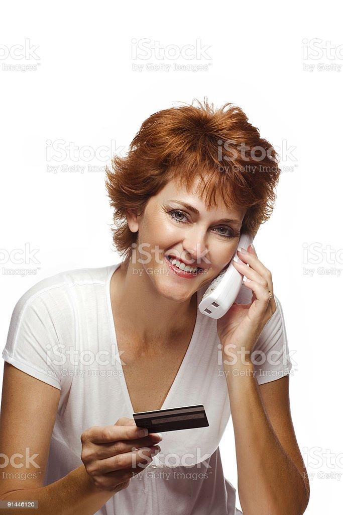Woman on Telephone royalty-free stock photo