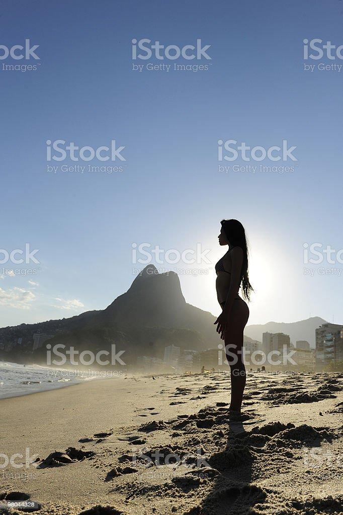 woman on the  beach, Rio de Janeiro royalty-free stock photo