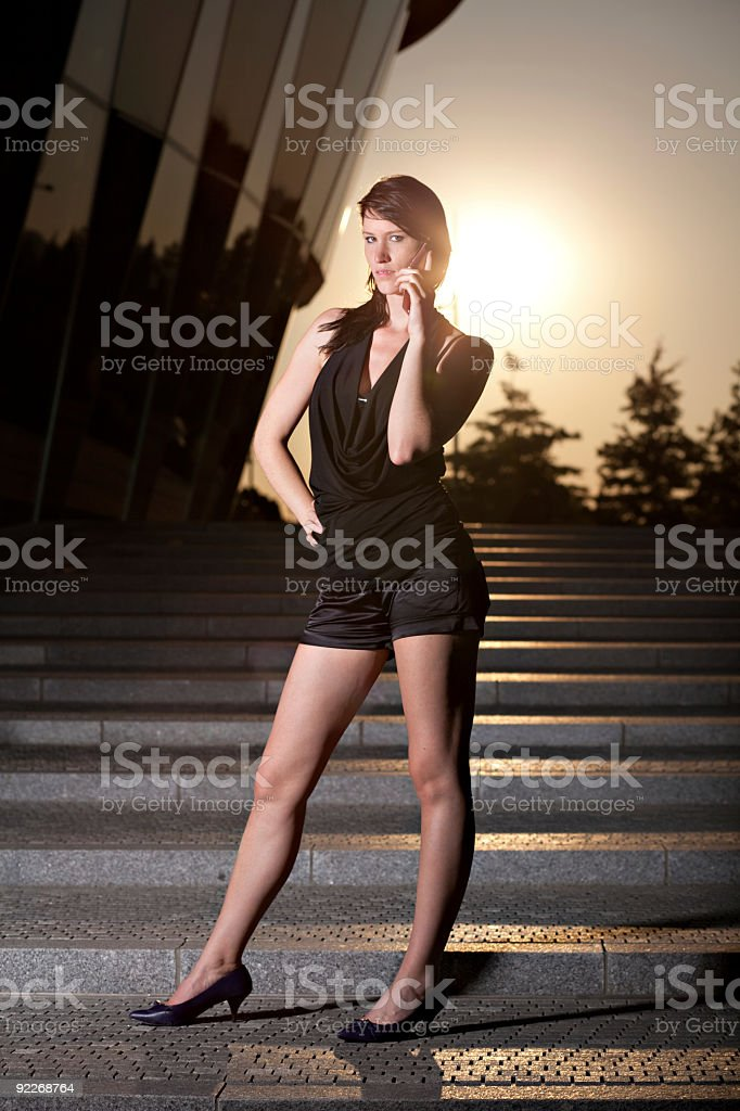 woman on the cell phone royalty-free stock photo