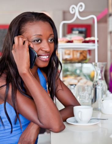 Woman On The Phone Stock Photo - Download Image Now