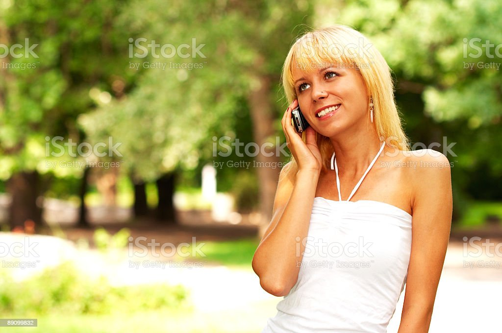 Woman on the phone! royalty-free stock photo