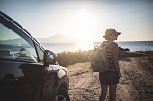istock Woman on the road trip 923113720